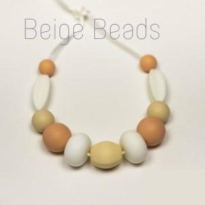 Силіконові слінгобуси Beige Beads Baby milk teeth