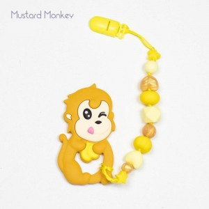 Гризун з харчового силікону Monkey (в кольорах)