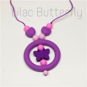 Силіконові слінгобуси Lilac Butterfly Baby milk teeth