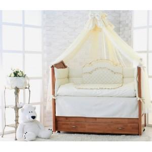 """Комплект постільної білизни для новонароджених """"Люкс"""" 7 предметів"""