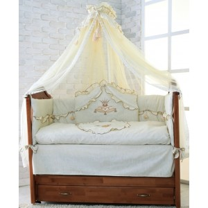 """Комплект постільної білизни для новонароджених """"Версаль"""" 7 предметів"""