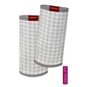 Накладки на лямки manduca® FumBee SoftCheck Grey-Ecru