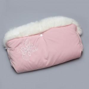 Муфта для рук рожева з опушкою