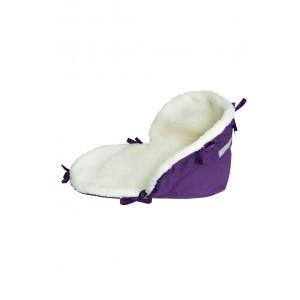 Матрац для санок на овчині фіолетовий