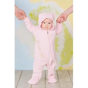 """Слінгокомбінезон з велюру """"My baby"""" рожевий"""