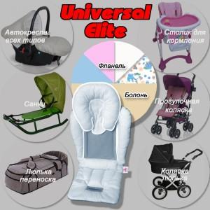 Матрацик в автокрісло Universal Elite (в кольорах)