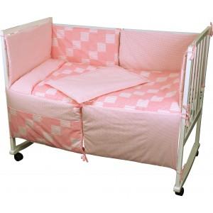 """Комплект дитячої постелі """"Клітинка"""" (4 предмети)"""