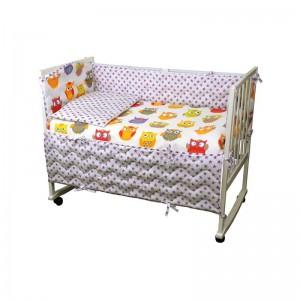 """Комплект дитячої постелі """"Сови"""" (4 предмети)"""