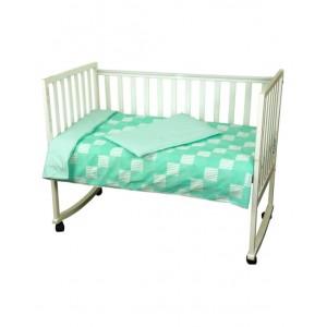 """Комплект білизни в дитяче ліжко """"Клітинка"""" (3 предмети)"""