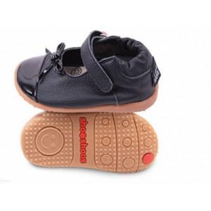 Туфлі з натуральної шкіри SHOOSHOOS SMY5 Black Black / Bow Smiley