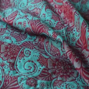 Слінг-шарф Yaro Ava Ultra Coral Purple Turkis Wool Tencel