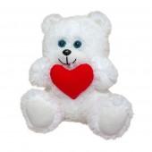 М'яка іграшка Ведмедик з серцем (травка)