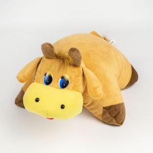 М'яка іграшка подушка трансформер Бичок
