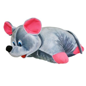 М'яка іграшка Подушка-трансформер Мишка